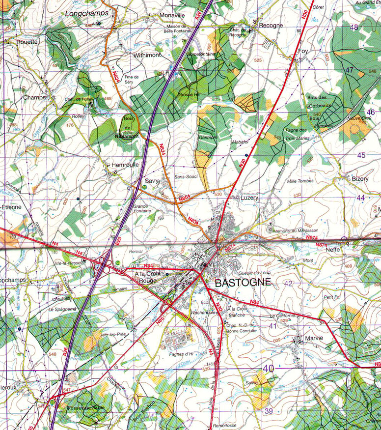 Bastogne Map   World War Media